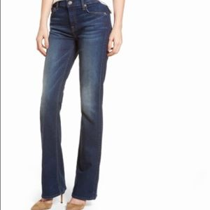 7 for All Mankind bootcut blue jeans